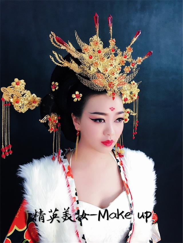 精英化妆培训学校武则天化妆造型教学作品