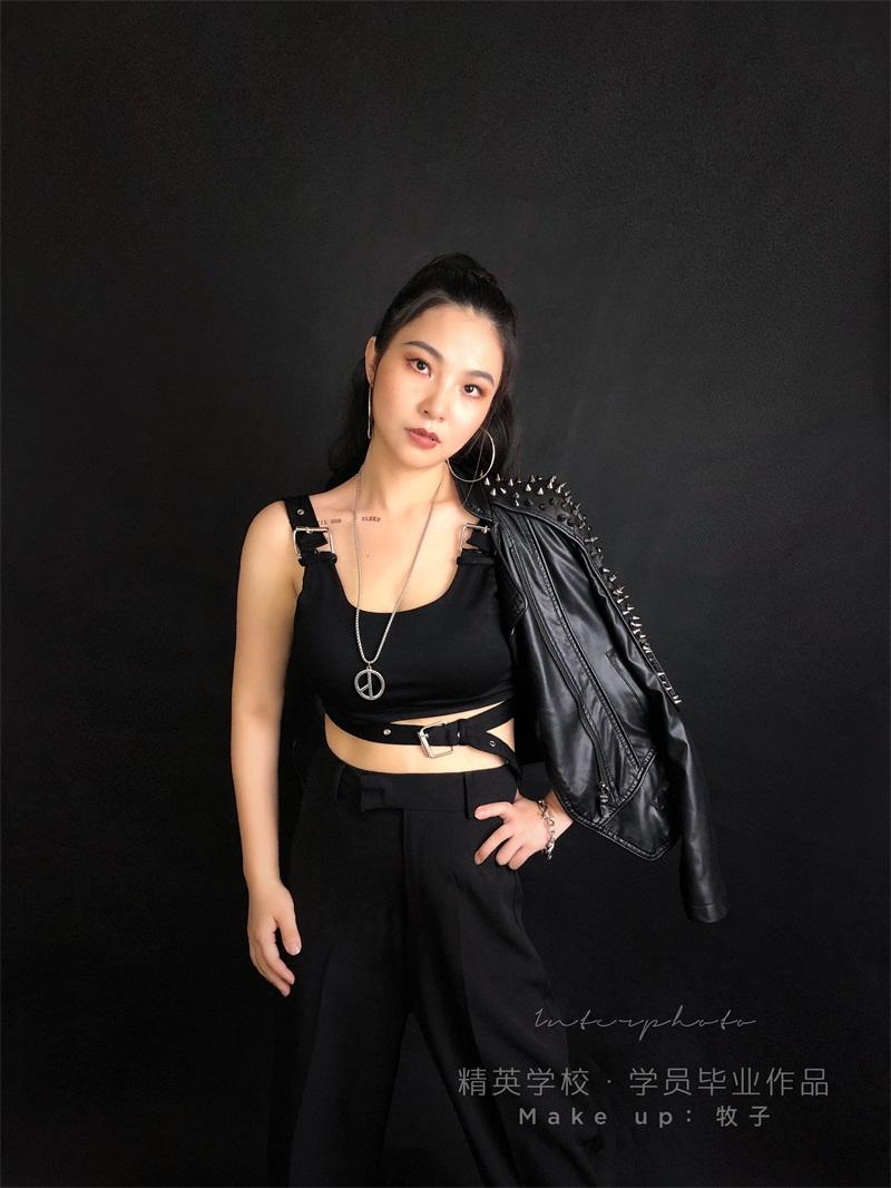 深圳化妝學校精英化妝學校6月畢業學員畢業作品圖片6
