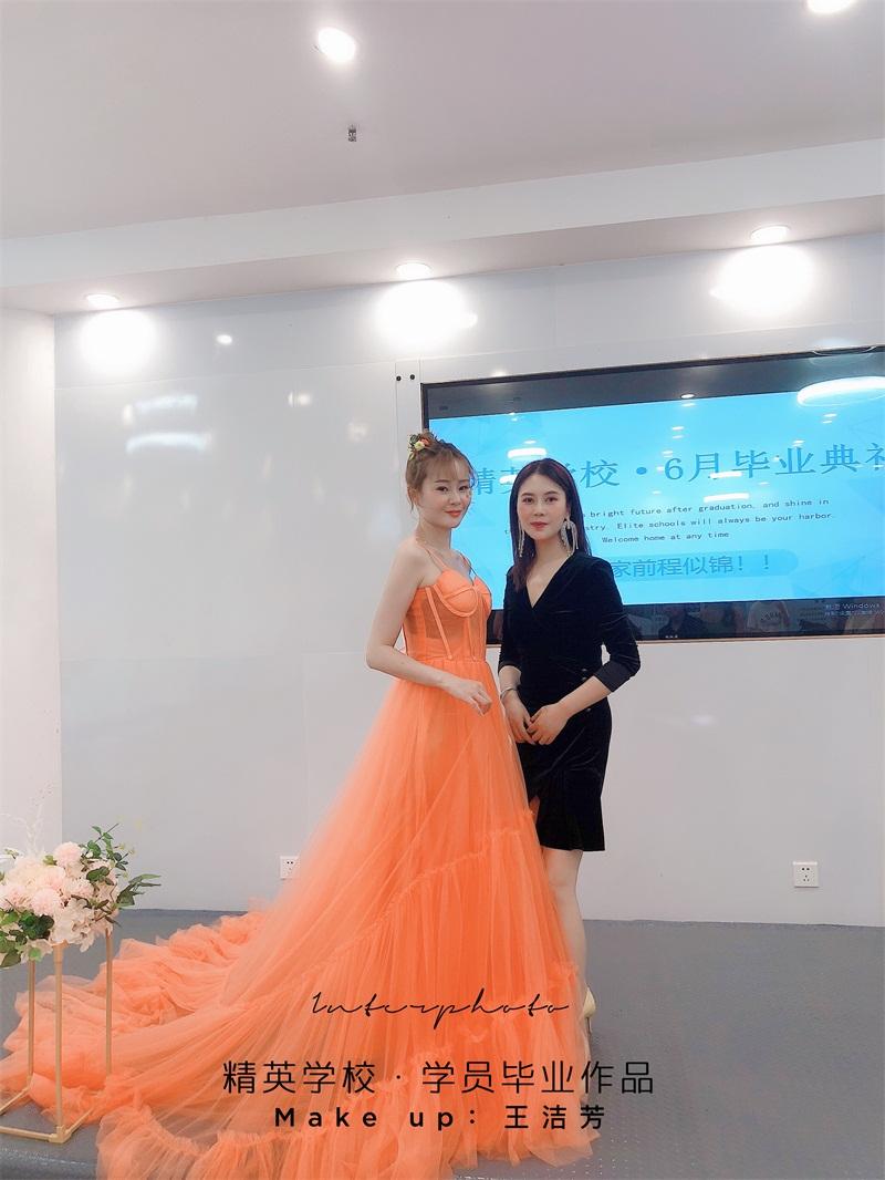 深圳化妝學校精英化妝學校6月畢業學員畢業作品圖片10