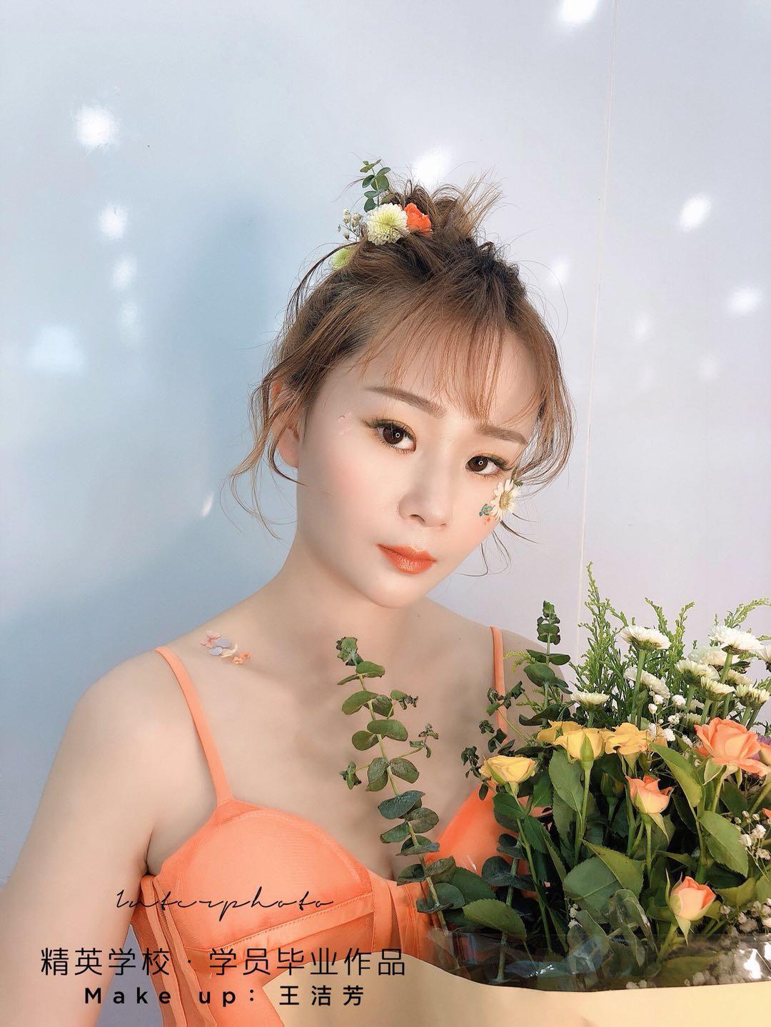 深圳化妝學校精英化妝學校6月畢業學員畢業作品圖片8