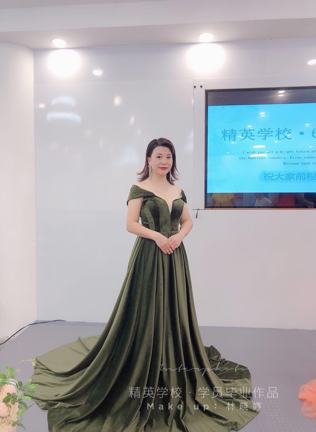 深圳化妝學校精英化妝學校6月畢業學員畢業作品圖片11