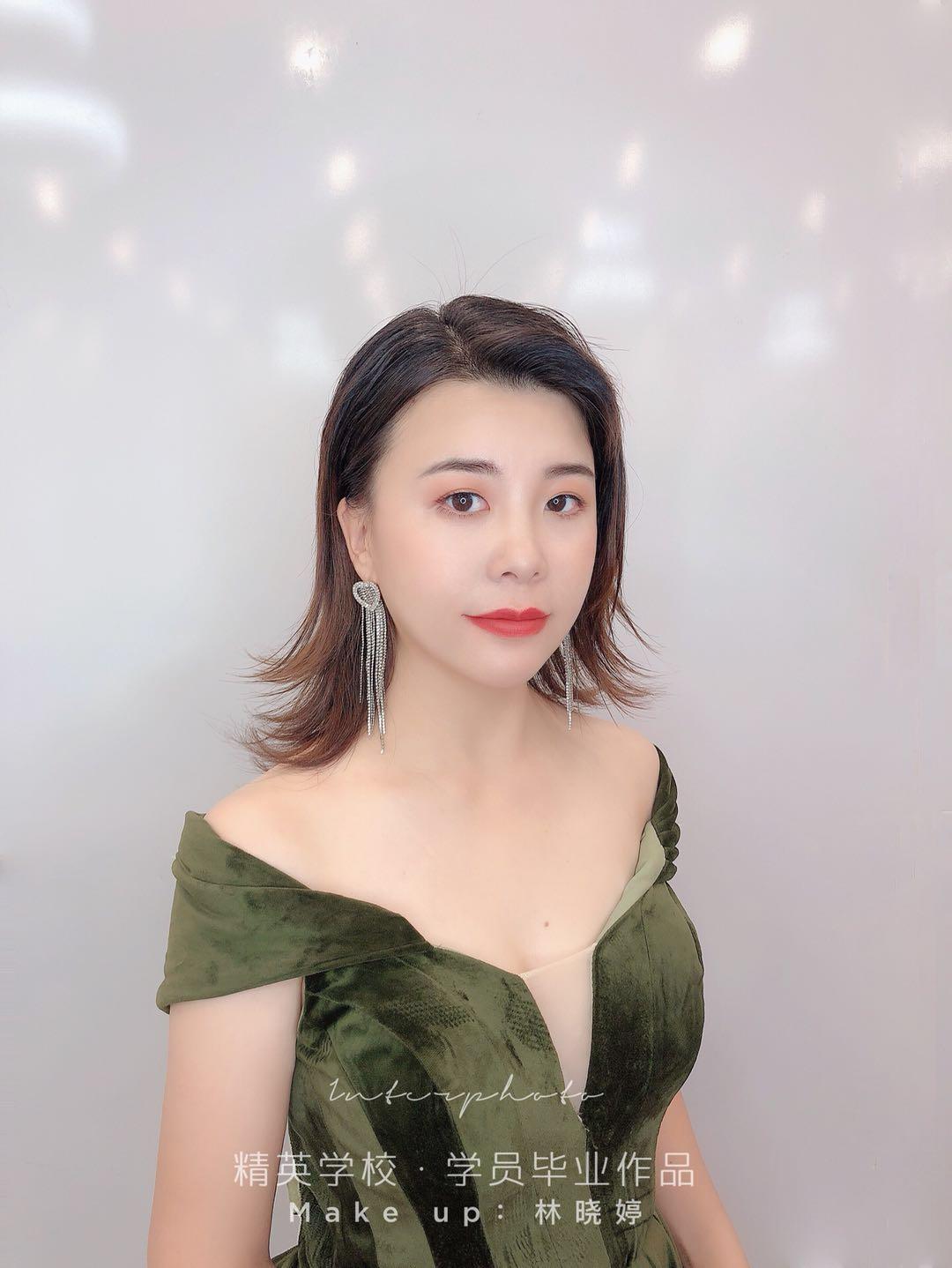 深圳化妝學校精英化妝學校6月畢業學員畢業作品圖片12