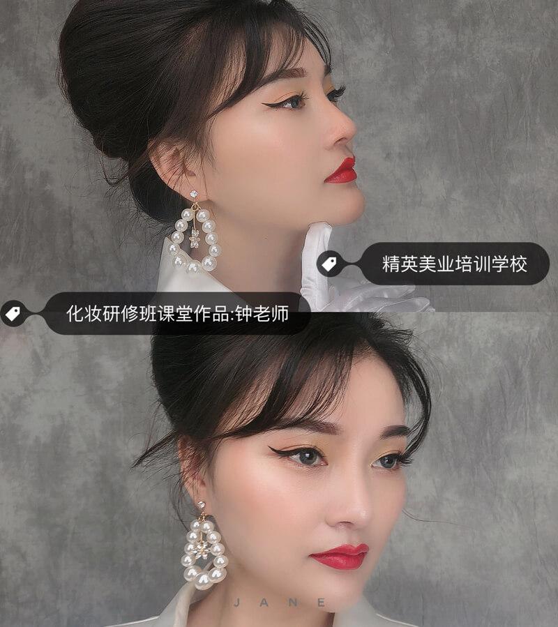 深圳精英化妆学校化妆造型研修班作品3