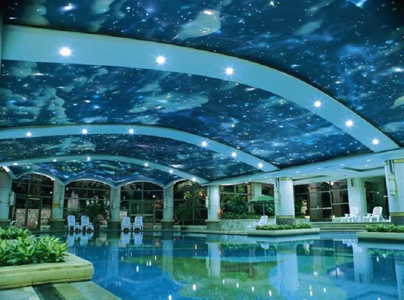 室内游泳馆软膜天花吊顶