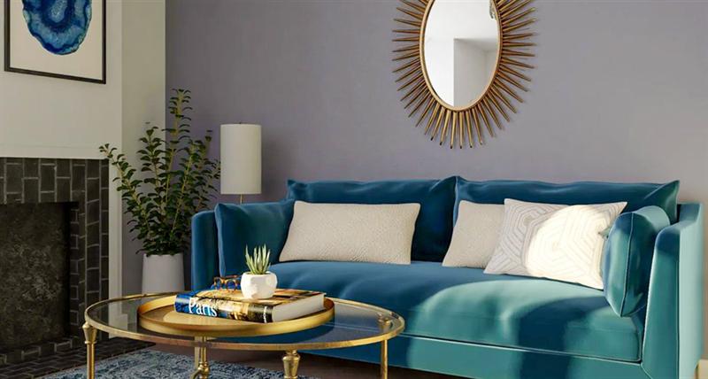 室内软装设计-玻璃咖啡桌
