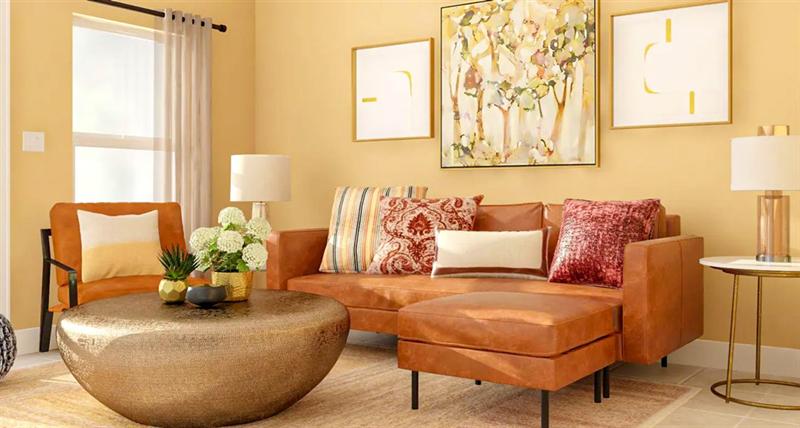 室内软装设计-金属咖啡桌