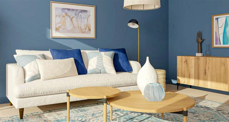 室内软装设计-木质咖啡桌