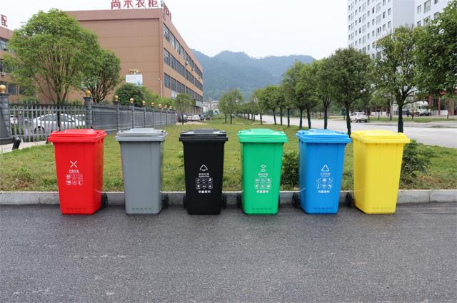 分类垃圾桶的图案分别是什么?
