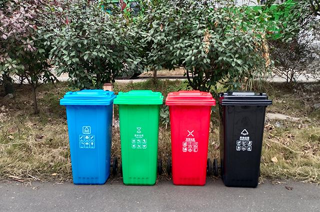 120L环卫分类垃圾桶