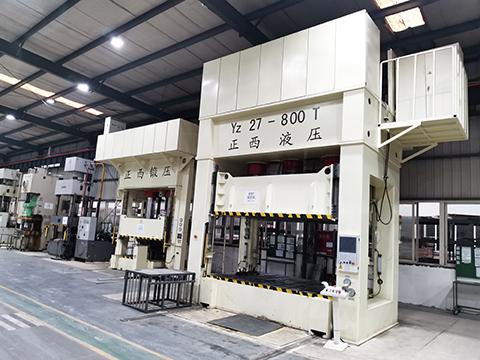 800吨拉伸液压机在行业中的应用案例【成都正西液压机分享】