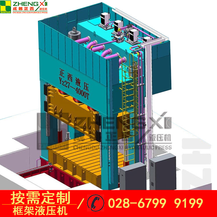 复合材料成型四柱液压机操作无反应怎么办?[成都正西液压机分享]