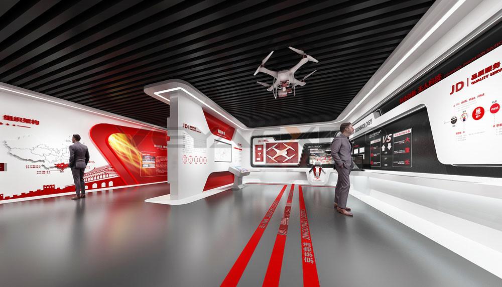 京东企业展厅设计-2