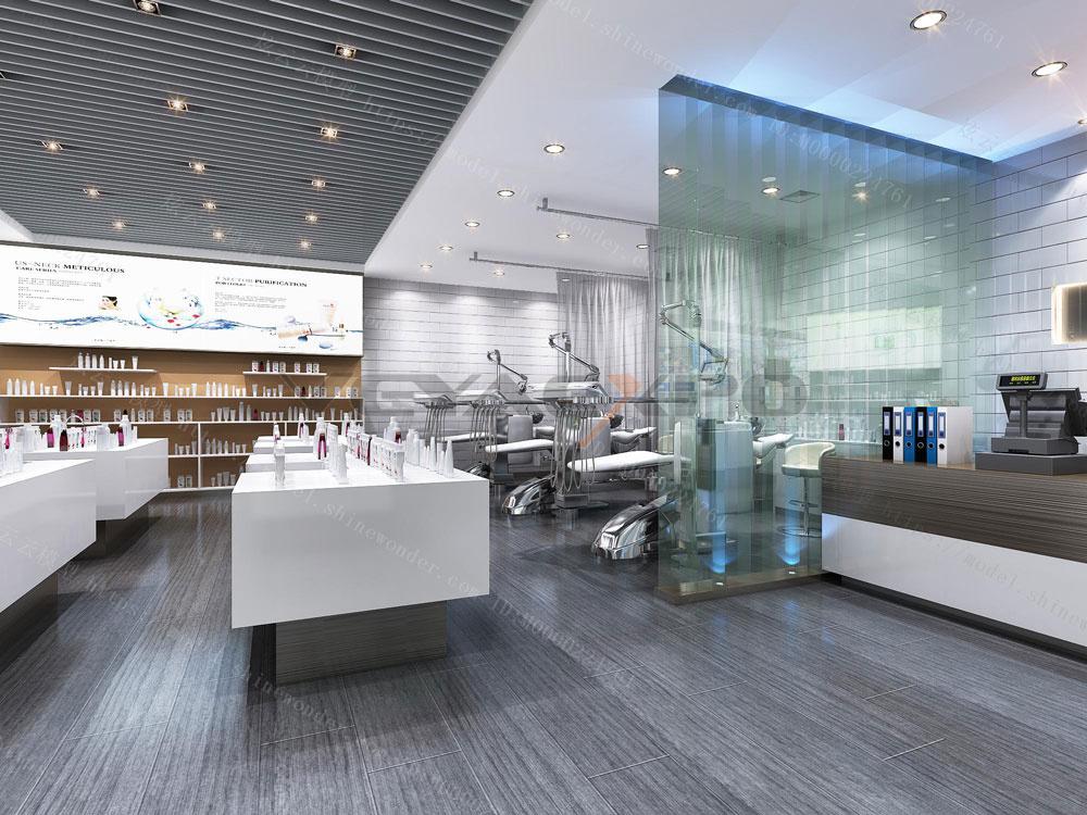 化妆品专卖店展厅设计